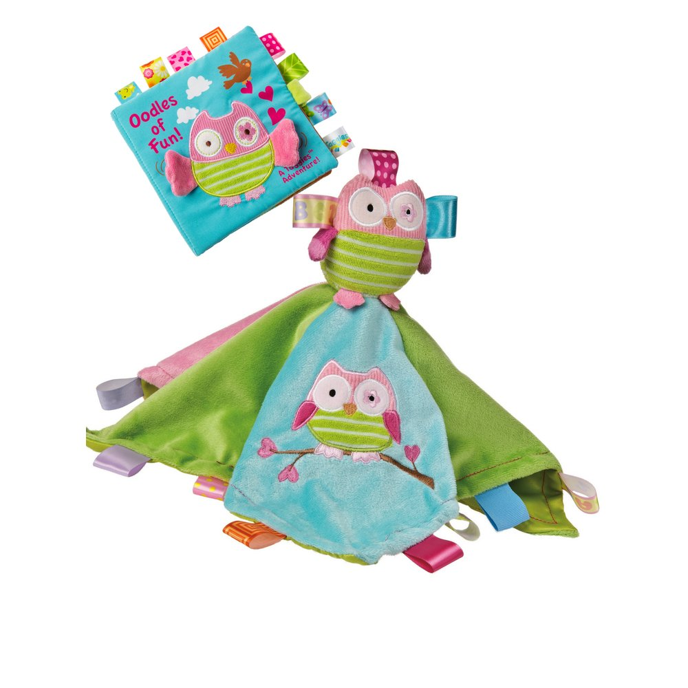 Mary Meyer Taggies Character Blanket and Soft Book Set for Newborn, Infant or Toddler Boys and Girls (Owl)