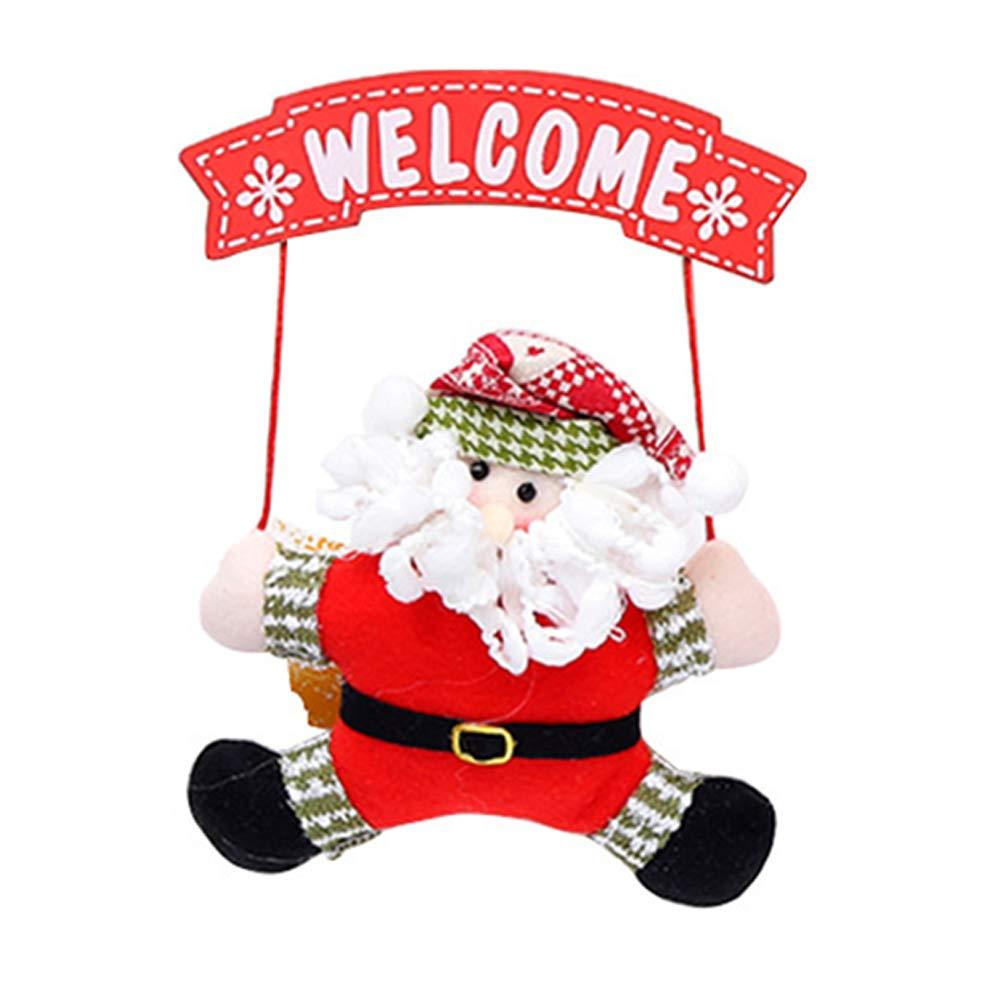 Naisicatar Puerta de la Navidad cuelgan Adornos de Navidad del Signo Positivo de Santa Claus de Navidad del Ornamento Puerta Colgando Decoración Mejor Regalo para la Navidad