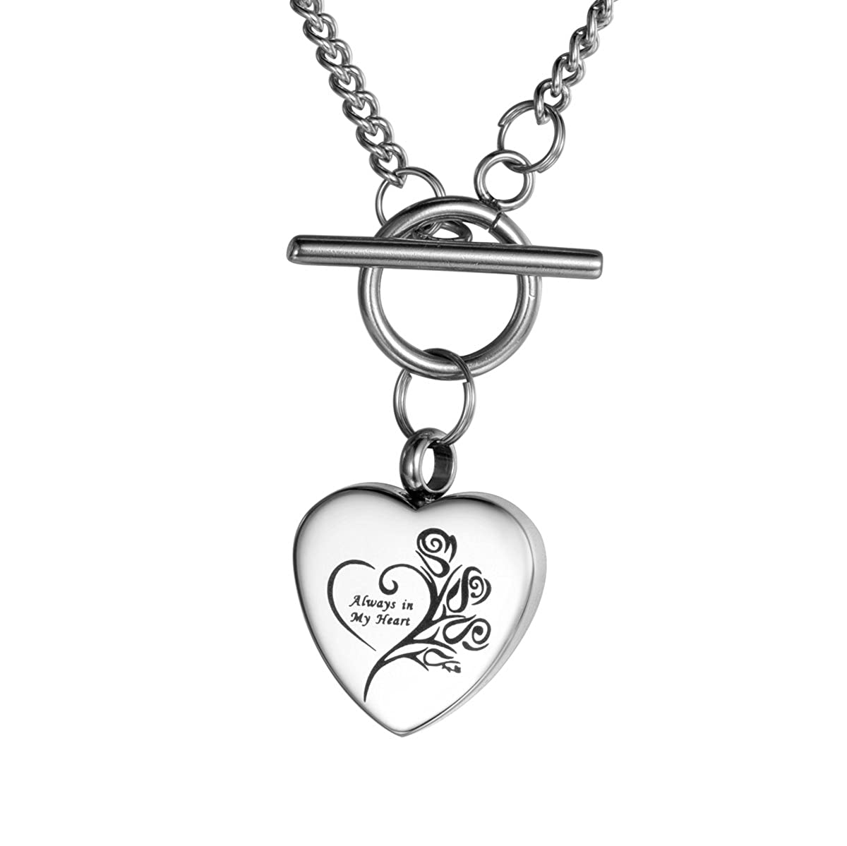 amazon valyria cremation urn necklace always in my heart Liberty Silver Dolar amazon valyria cremation urn necklace always in my heart memorial keepsake jewelry with toggle clasp engraving jewelry
