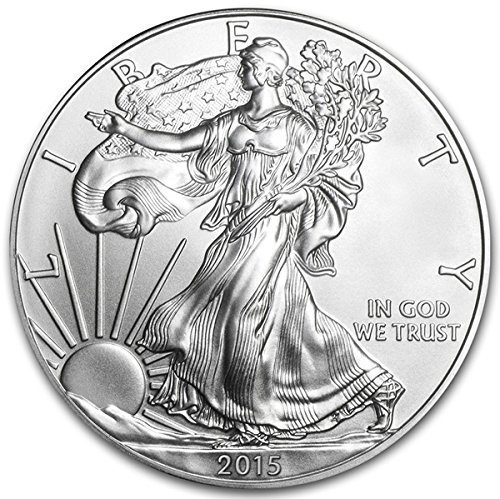 2015 American Eagle 1 oz Silver Coin With Air-Tite Holder $1 Brilliant Uncirculated US Mint