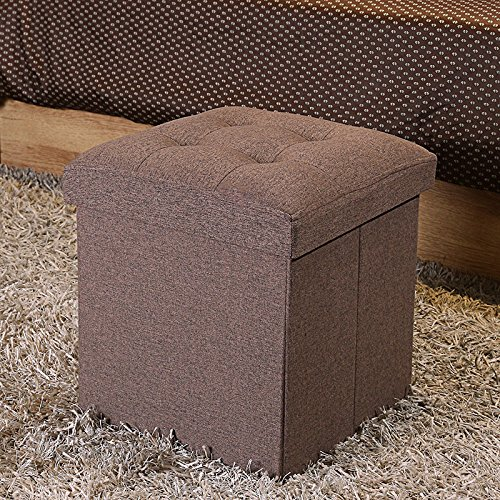 Dog Footstool - Do4U High-end fabric Folding Organizer Storage Ottoman Bench Footrest Stool Coffee Table Cube, Camping Fishing Stool, Quick and Easy Assembly, Perfect for Child (15