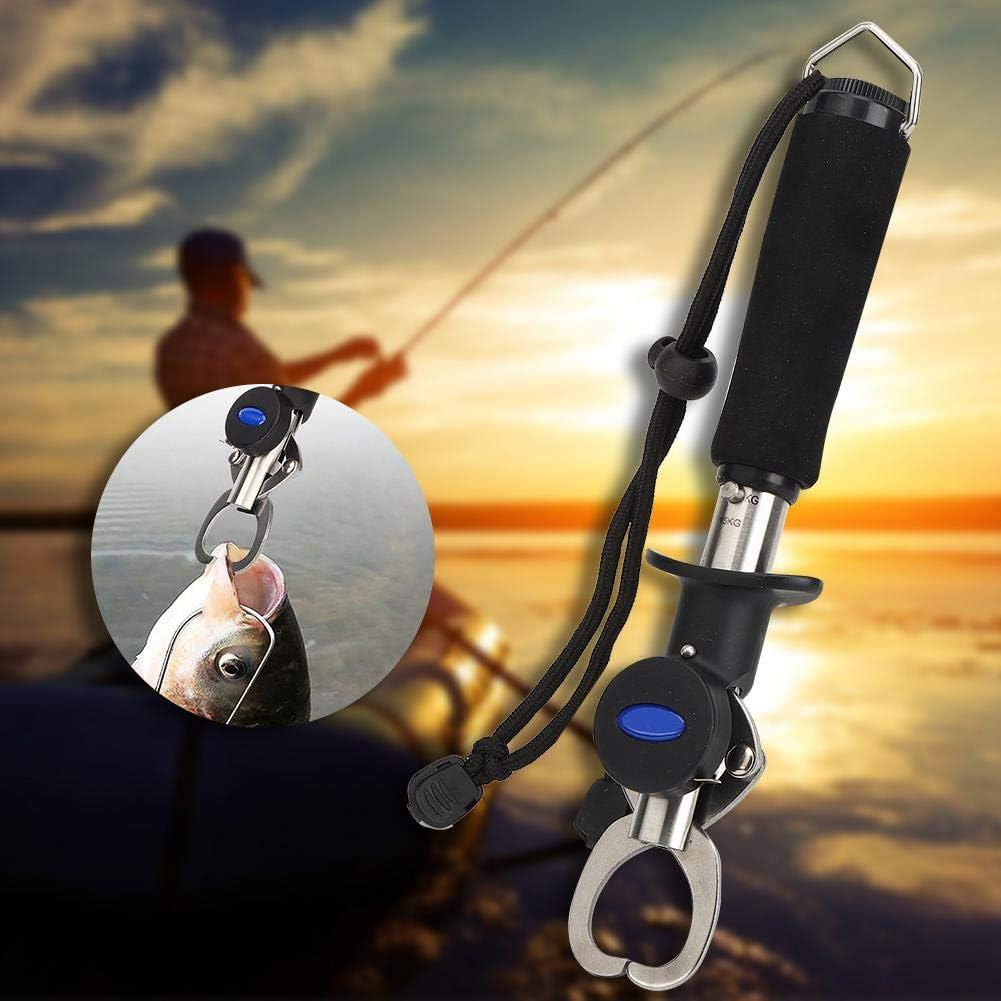 Vbest life Controlador de se/ñuelo de Pesca Controlador de Pinzas de se/ñuelo de Pesca de Acero Inoxidable de Calidad port/átil Accesorio de Clip de Labio de Pescado con cord/ón