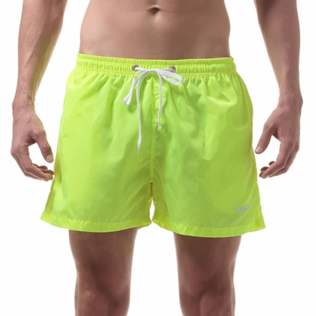 Bikini bandeau Pantalones cortos para hombres, YanHoo® TMens Shorts Swim Trunks Quick Dry Beach Surfing Running Swimming Watershort 1PC (M, ...