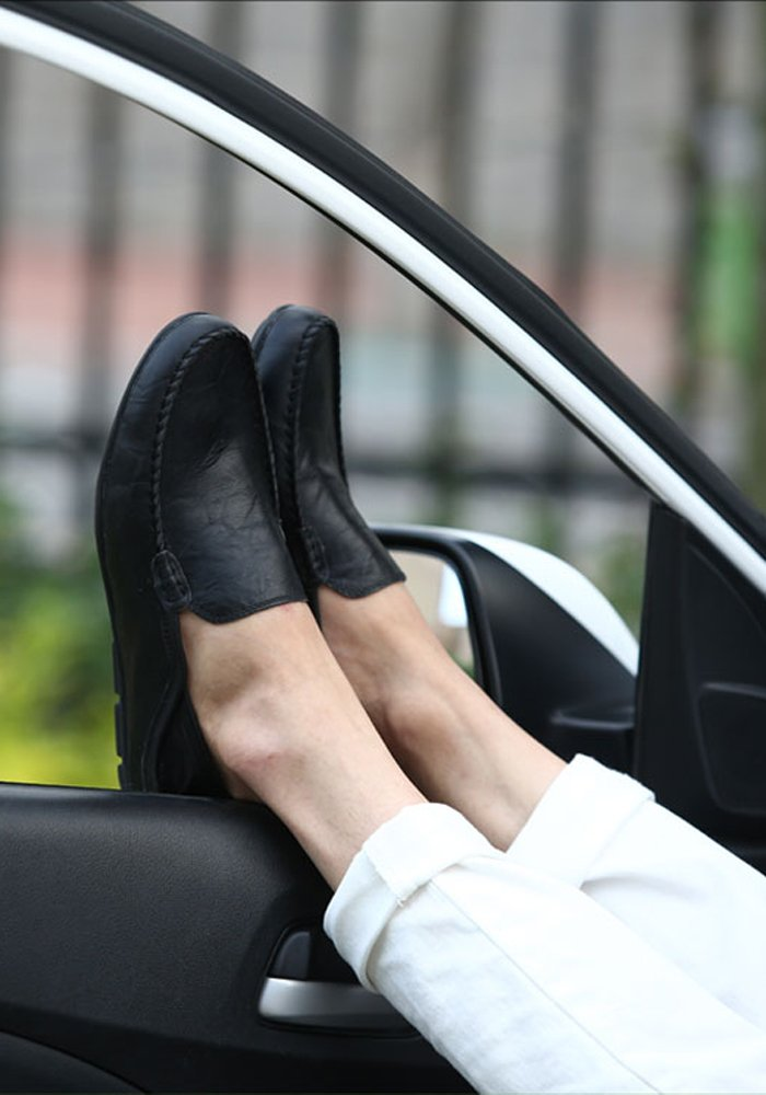 Lapens Men's Driving Shoes Premium Genuine Leather Fashion Slipper Casual Slip On Loafers Shoes LPMLFS1587