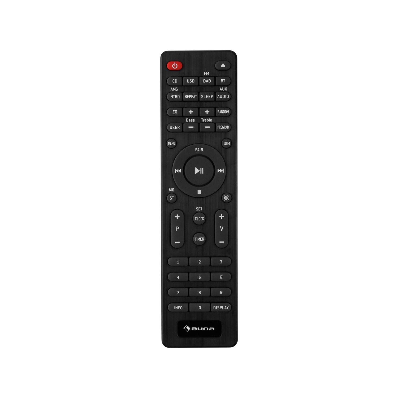 Auna Stanford Radio Digital Dab+ Bluetooth (Reproductor CD, USB, MP3, AUX, sintonizador FM, 40 emisoras, Altavoces Integrados, Mando Distancia): Amazon.es: ...