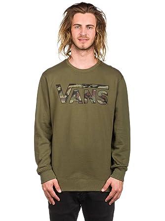 Suéter Vans Classic Crew Grape Leaf-Camo (S, Verde): Amazon.es: Ropa y accesorios
