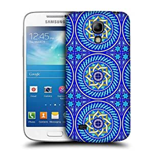 Case Fun Case Fun Blue Tile Snap-on Hard Back Case Cover for Samsun Galaxy S4 Mini (I9190)