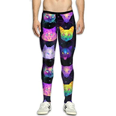 Clearance sale genuine shoes official store Amazon.com: JTYJWS Psychedelic Galaxy Cat Men's Compression ...