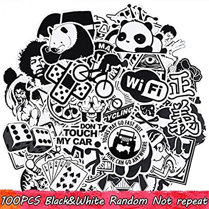 100 Unds friki pegatinas stickers diseños modelo 3 mix para patinetes, mandos consola, cascos