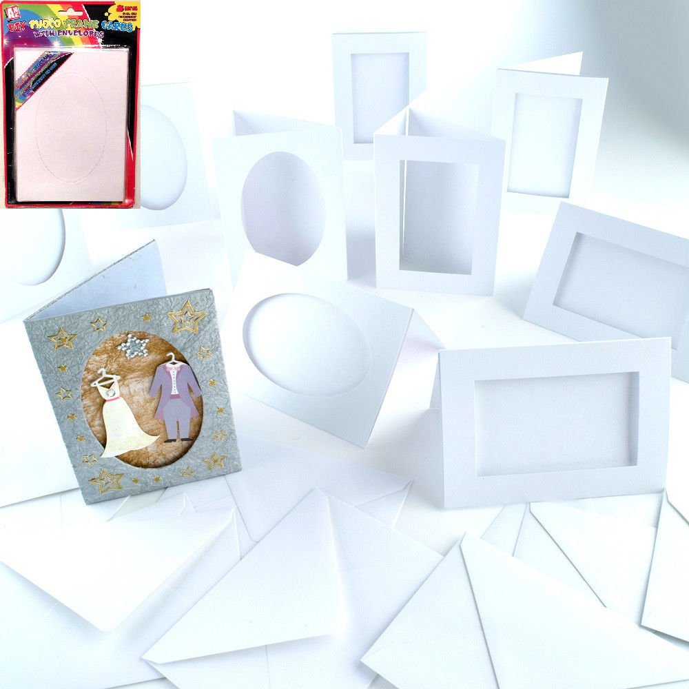 Pms 8pc Diy Picture Card Envelope On Ptd Bcard 2style Oval Amazon