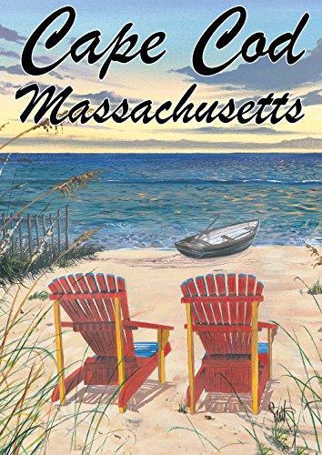 Toland Home Garden Adirondack Paradise Cape Cod Massachusetts 12.5 x 18 Inch Decorative Regional Ocean Beach Garden Flag