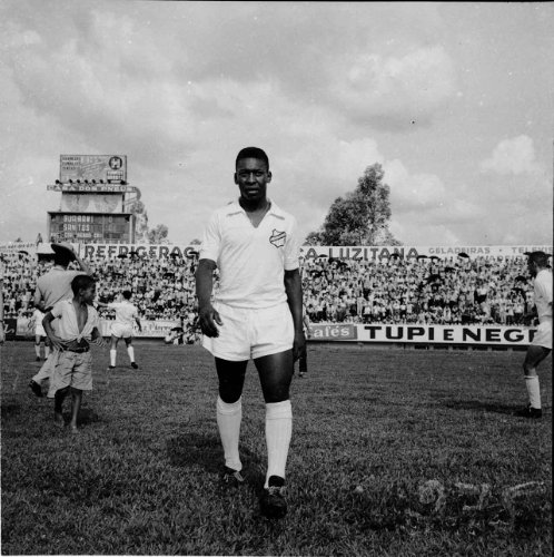 All white uniform, walking in before a Guarini v Santos Game -