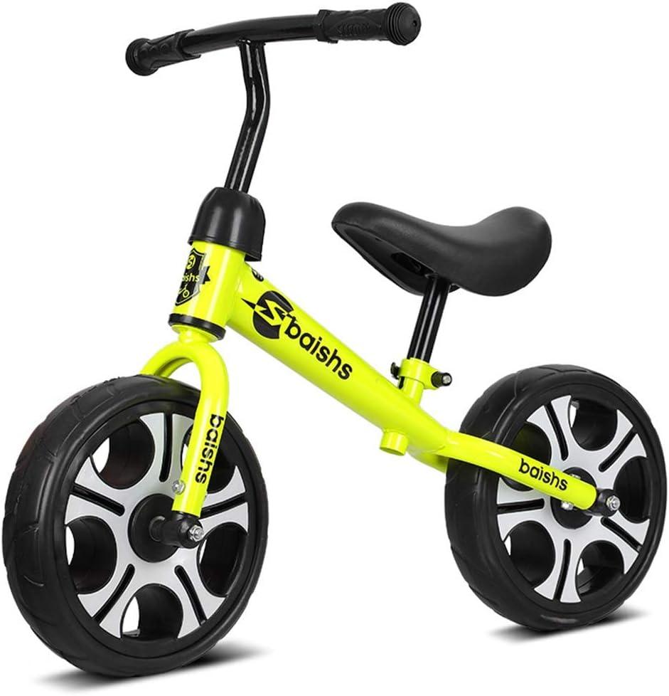 LIMUZI Balance de Bicicletas - Niño Bicicleta de Entrenamiento de 2 a 6 años Niños - Ultra Cool Colors Empuje Las bicis for niños pequeños/n del Pedal de la Bicicleta Vespa Interior Al Aire Libre
