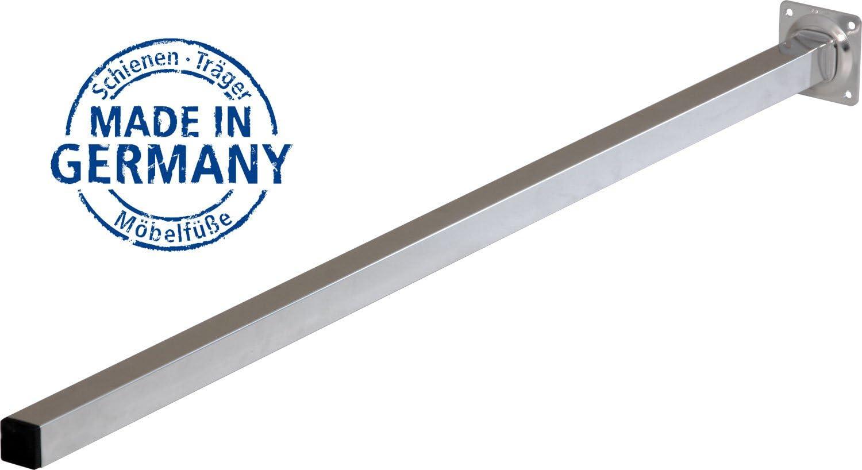 chrome 36 variations |25 x 25 mm Un lot de 4 pieds de table//de meubles 25 cm IB-Style vis de r/églage form: carr/é