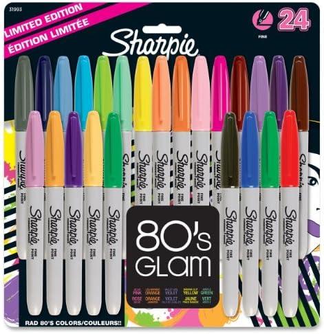 Sharpie fine-tip marcador permanente, 24, colores surtidos, 2-pack ...