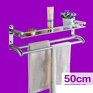 Estantería de baño de acero inoxidable/Baño suspendido inodoro baño toalla estante del almacenaje/estanterías-H: Amazon.es: Hogar