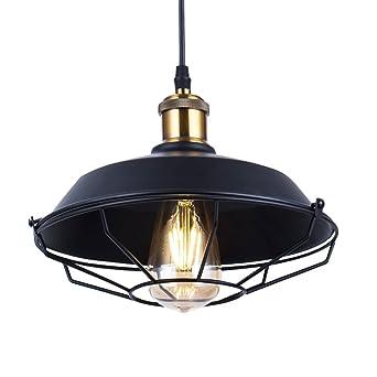 Eclairage Plafonnier Vintage Lampe Suspendue Avec Dome Rustique