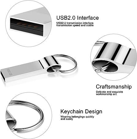 1000gb Kayboo Memoria USB 1TB USB Pendrive Mental USB Memory Stick con Llavero port/átil