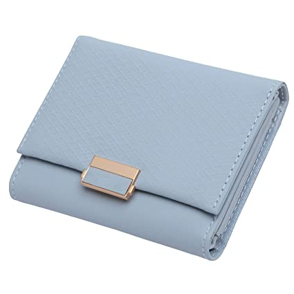 Billetera de Piel para Mujer con diseño de Cuadros, para ...