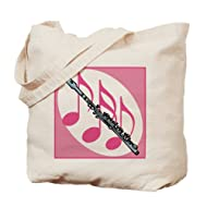 CafePress - Fun Flute Gift - Natural Canvas Tote Bag, Cloth Shopping Bag