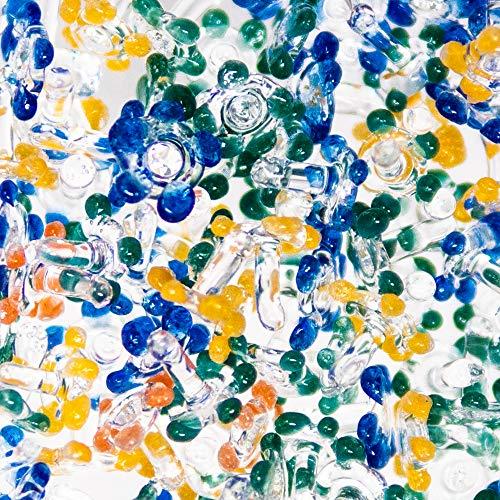 "200 Piece - Premium Hand-Blown Glass Daisy Screens 1/4"" to 3/8"" in"