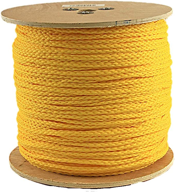 Cheap Nylon Rope Poly Rope Coils 6mm Yellow Polypropylene Rope x 20 Metres