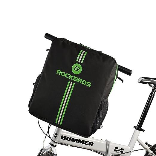 RockBros Bicicleta plegable Bolsa de transporte bicicleta plegable para bicicleta para avión auto 14 hasta 20 pulgadas Bike Travel Bag con mochila: ...