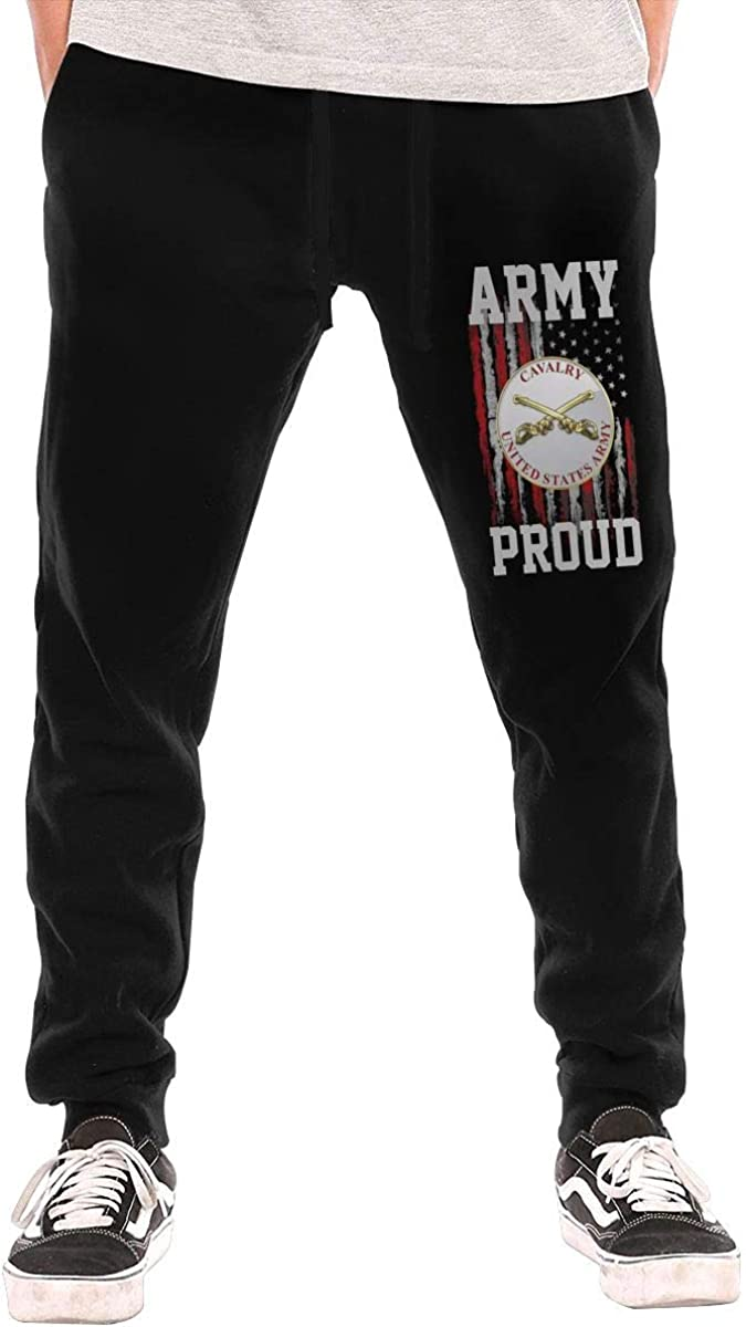 ZGYB5LONG Proud US Army Cavalry Mens Sweatpants for Gym Training