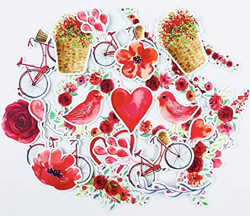 June Trendy Love Bird and Rose Stickers ()