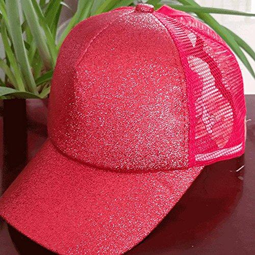 con Sombrero béisbol béisbol rojo con béisbol gorra purpurina gorra gorra béisbol lentej gorro blanco espalda plana de lentejuelas de color en de gorra Aolvo y de con personalizable ajustable qdYatd