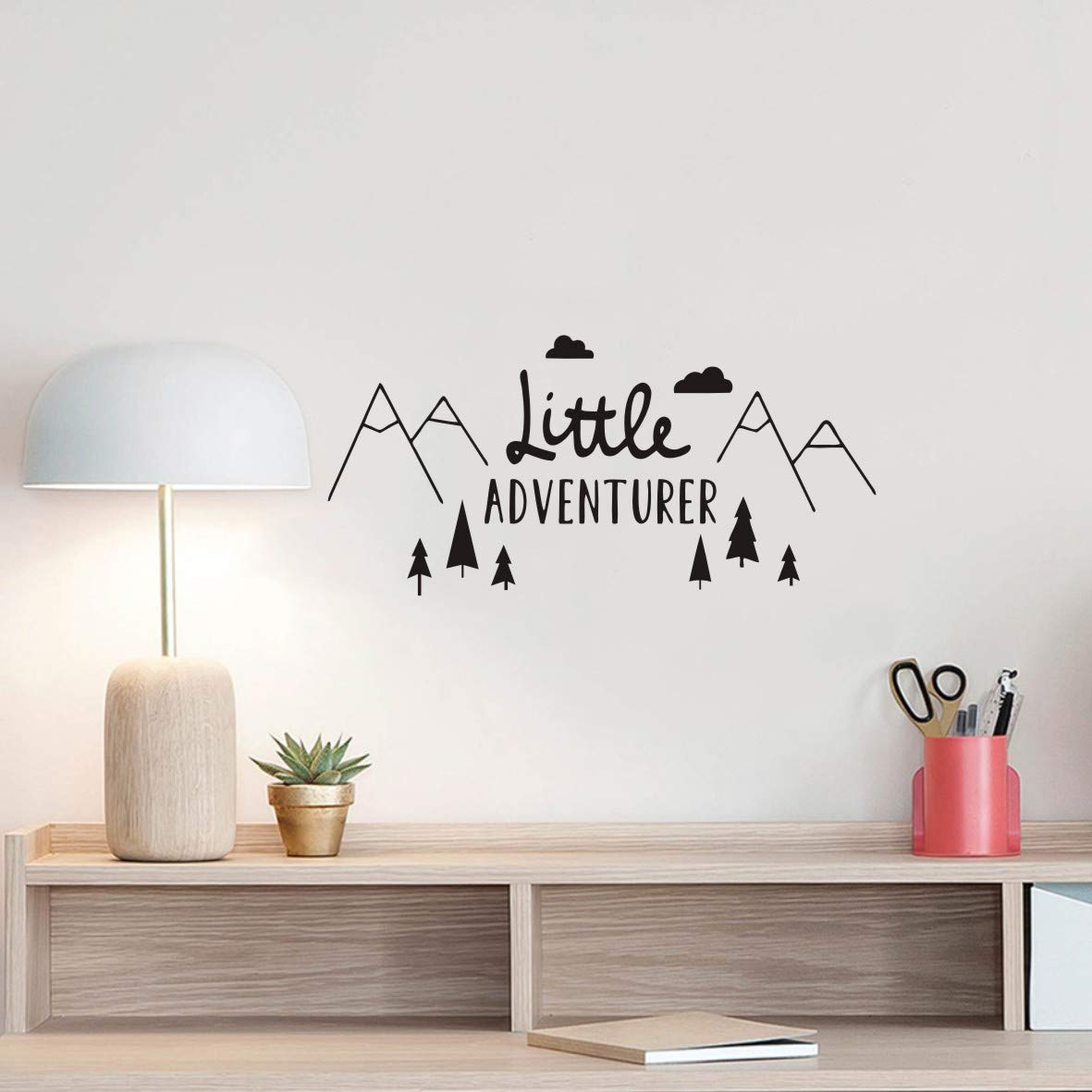 The Tribal Mountain Little Adventure Wall Sticker Art Travel Adventures Mountains Wall Decal for Kids Room Nursery Room Bedroom Wall Art Murals Removable Boys Wall Poster QQ198 (57X27CM)