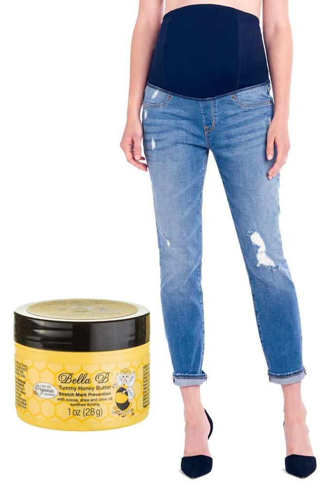 Bundle 2 Item Ingrid Isabel Mia Maternity Jeans 27 + Tummy Honey Butter 1 oz