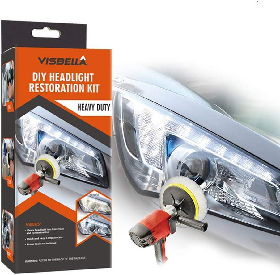 Visbella Kit de reparación de Sistema de restauración de Faros Delanteros, Kit de reparación de Luces para Coche (Automatic)