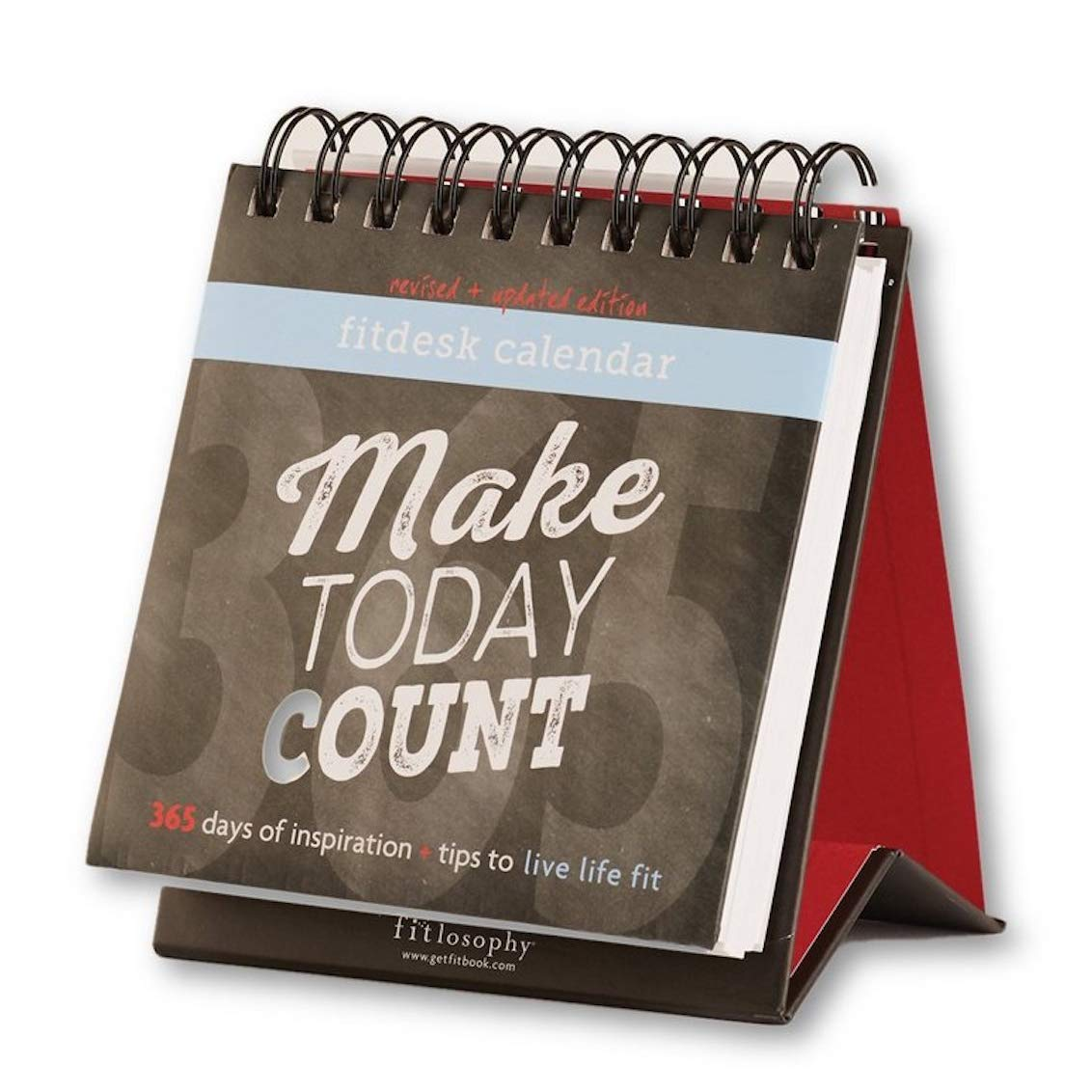 Fitlosophy 'Make Today Count' 365-Day Inspirational Perpetual Desk Calendar