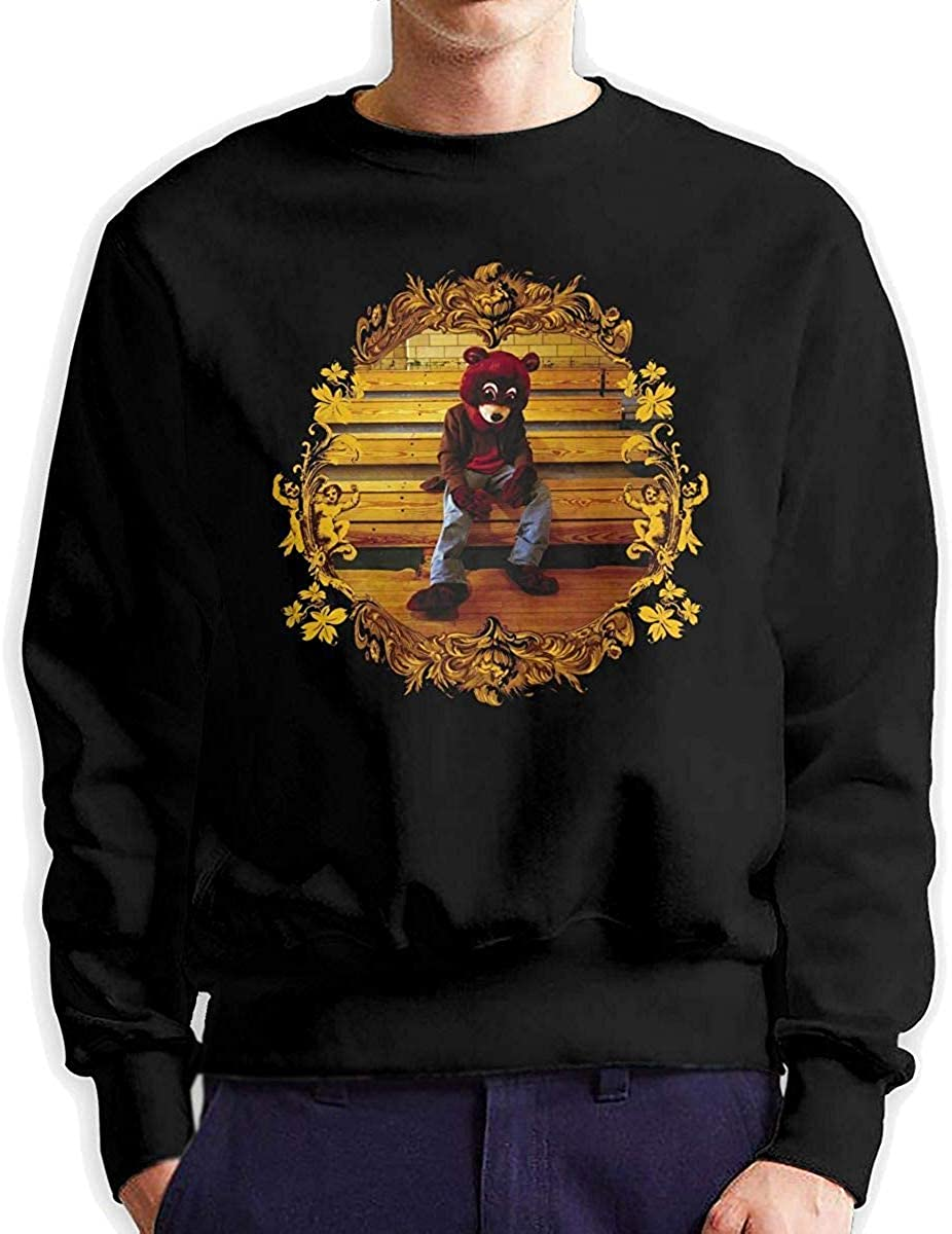 YCR4FC Kanye West The College Dropout Music Band Mens Fashion Crew Neck Sweatshirt Long Sleeve Large