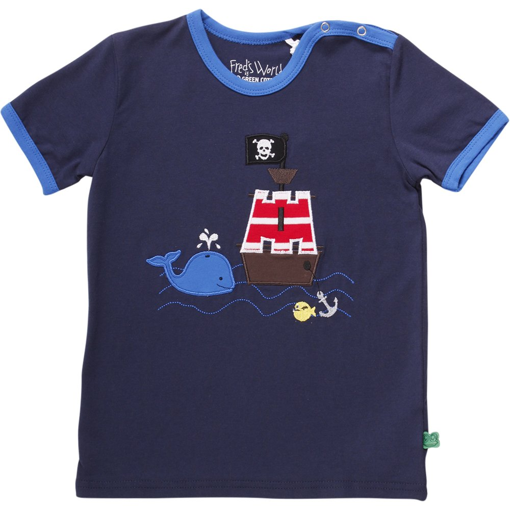 Fred's World by Green Cotton Unisex Baby T-Shirt Sailor Boat T Baby Blau (Navy 019392001) 74 1511039601
