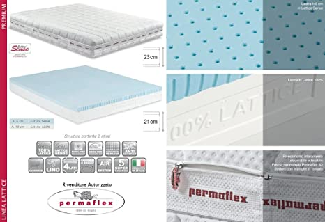 Materassi In Lattice Permaflex Offerte.Permaflex Premium 160 Materasso Lattice Naturale 160x190 Amazon It