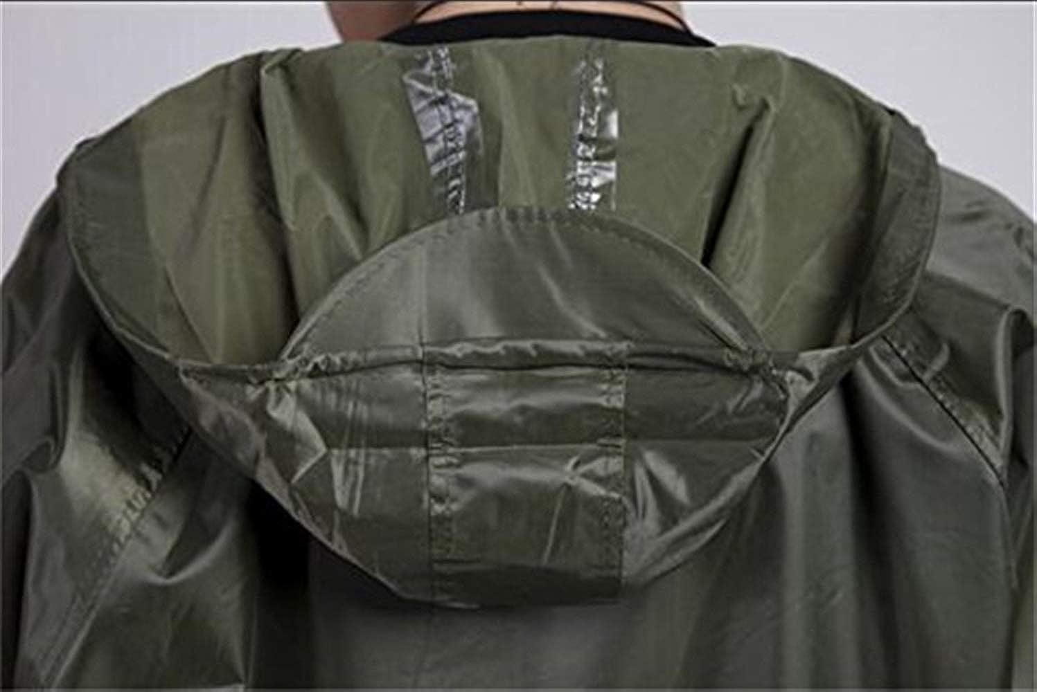 Adult Raincoat Thick Waterproof Poncho Simple Rain Hooded Style Solid Color Outdoor Raincoat Raincoat Grün