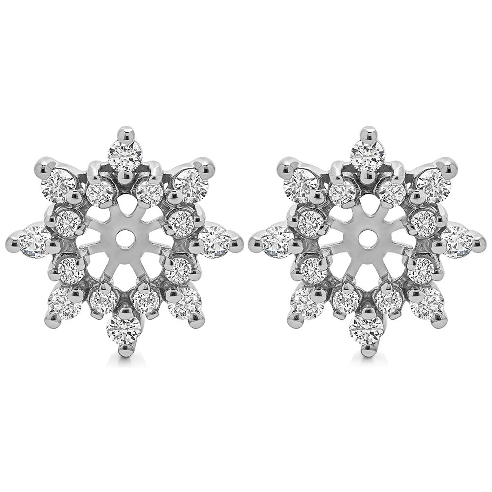 0.96 ct. Cubic Zirconia Spectacular Halo Earring Jackets in Sterling Silver (0.96 ct. twt.)