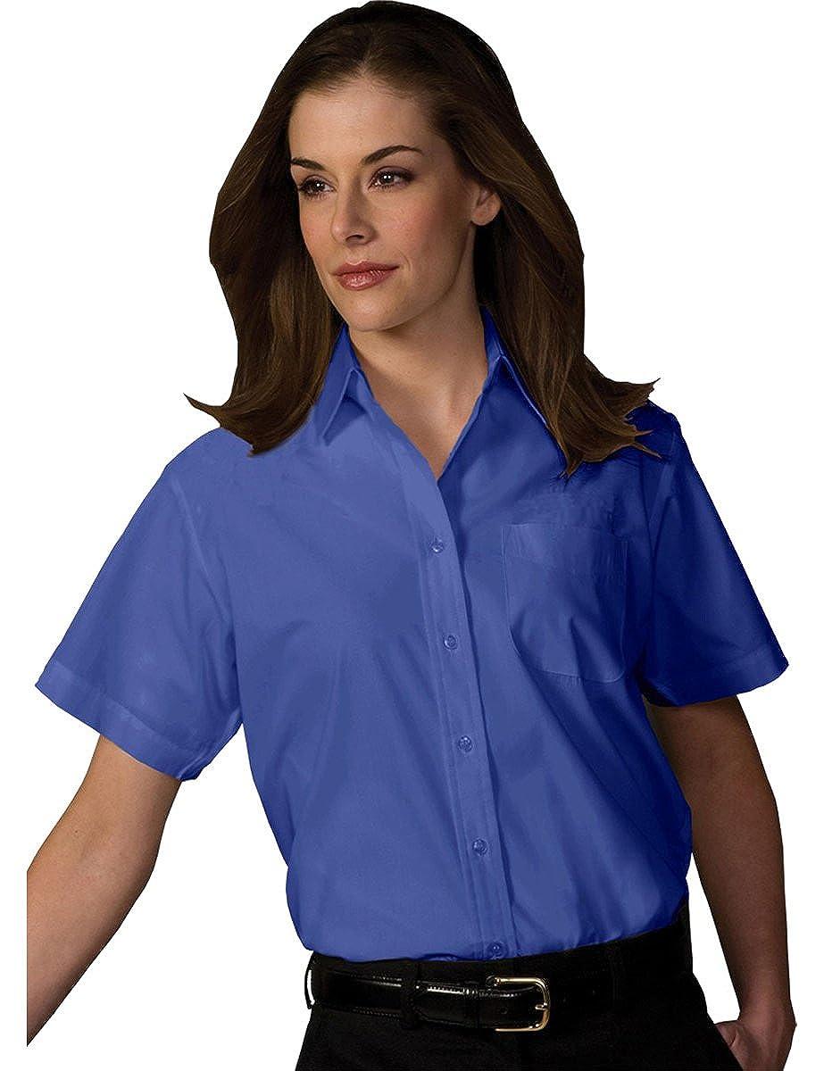 dad86c0b Amazon.com: Edwards Garment Women' Short Sleeve Left Pocket Broadcloth  Dress Shirt: Clothing