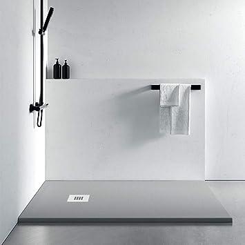 Olimpo duchas - Plato Ducha de diseño gris claro acabado pizarra ...