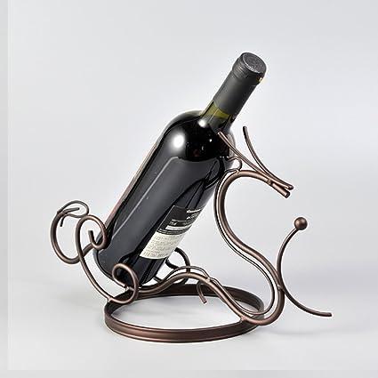GBYZHMH Soportes para botellas de vino de hierro moderna forma de dragón mesa de cocina Accesorios