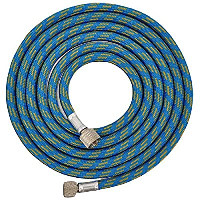 "Master Airbrush Premium 10 Foot Nylon Braided Airbrush Hose with Standard 1/8"" Size Fittings on Both Ends (Hose color may vary)"