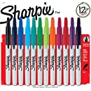 Sharpie Retractable Permanent Markers, Fine Point, Assorted, 12 Pack