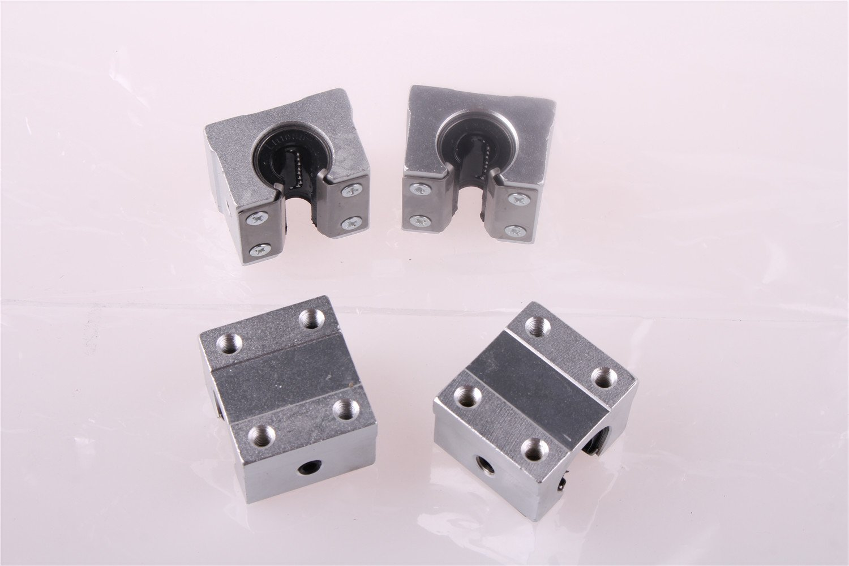4PCS SBR25UU 25mm Aluminum Open Linear Motion Bearing Slide Unit for Linear Rail