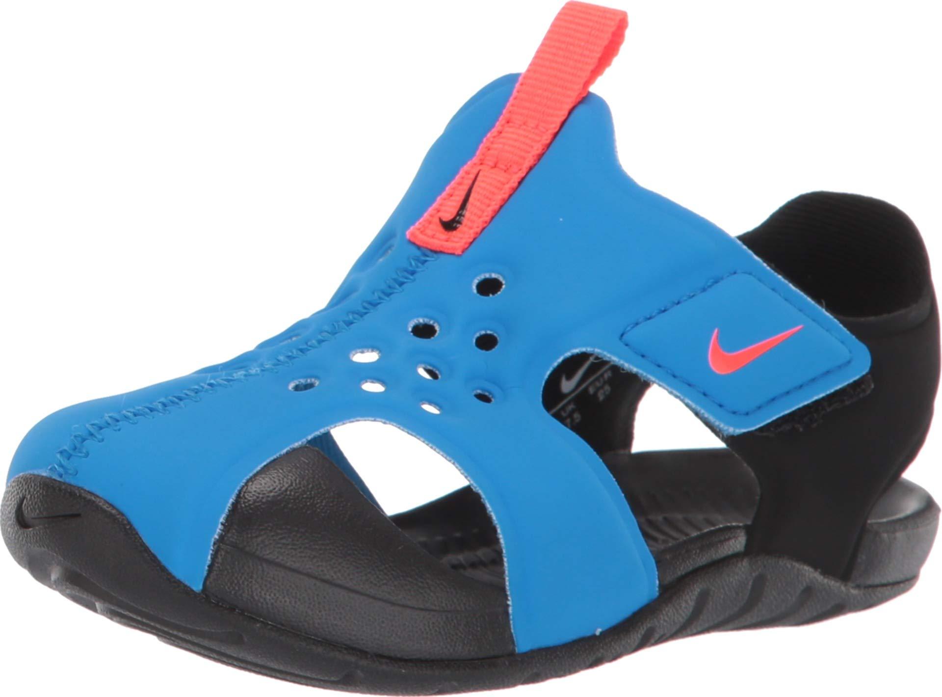 Nike Toddler Kid's Sunray Protect 2 Sandal, Photo Blue/Bright Crimson-Black, 7 M US Toddler