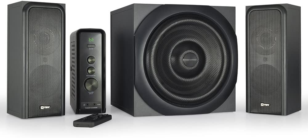 Thonet and Vander Ratsel Bluetooth 2.1+1 Surround Sound Speakers (360 Peak Watt) Ultimate Home Theater and Gaming Desktop Speaker System with