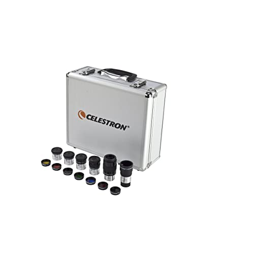 Celestron 94303 Eyepiece and Filter Kit - 14 Piece Telescope Accessory Set