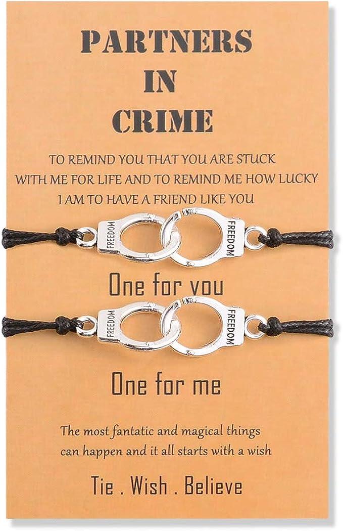 BOCHOI Bff Friendship Bracelet for 2 Girls Women Men Couples Boys Bestfriend Lovers Matching Wish Handmade Bracelet