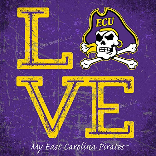 Prints Charming College Love My Team Logo Square Color East Carolina Pirates Unframed Poster 13x13 Inches (Square Logo Carolina East)